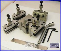T51 Quick Change Tool Post Boxford Warco & Similar Lathe Set 51mm 3x Holders 5pc