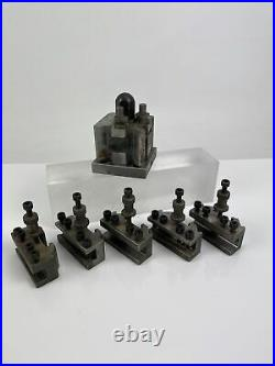 T. 00 Dicksons Quick Change Tool Post & Five Standard Tool Holders Suit Myford