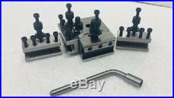 T-37 Dickson Type Quick Change Tool Post T37 Set Of 5 Pieces Complete Set