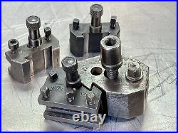 Tripan 111 Quick change tool post & 3 pc. Holders for SCHAUBLIN 102 WATCHMAKERS