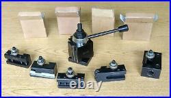 Unused BXA 6 Pc Wedge Type Quick Change Tool Post Set for Lathe Swing 10-15'