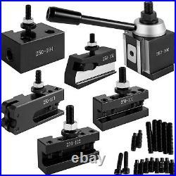 VEVOR Lathe Tool Holder Quick Change Tool Post Set for Mini Lathe 250-100 Post