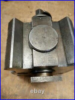 Vintage Unbranded Metal Lathe Quick Change Tool Post Machinist