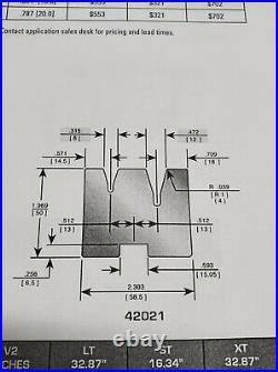 Wilson Tool 42021LT 30° Acute Angle Quick Change 2V Die 32.87 Long Press Brake